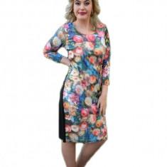 Rochie eleganta , cu trandafiri multicolori din material 3D