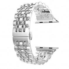 Curea metalica, compatibila Apple Watch 42mm, Silver