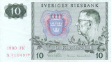 SUEDIA 10 kronor 1980 REPLACEMENT VF+++!!!