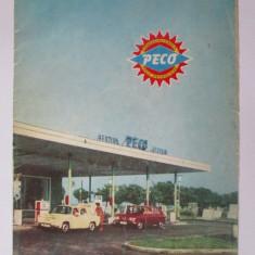 Brosura publicitara PECO cu harta R.S.R. din 1972