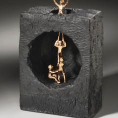 """Statueta bronz si piatra """"Echipa"""""""