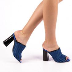 Papuci dama Ruxia albastri