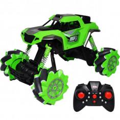 Jeep cu RC si suspensii Drift Rock Crawler Verde