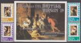 Cumpara ieftin DB1 Arta Pictura Rubens Insulele Virgine Britanice 1981 set +  SS MNH