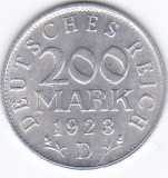 Moneda Germania ( Weimar Rep. ) 200 Mark 1923D - KM#35 UNC