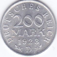 Moneda Germania ( Weimar Rep. ) 200 Mark 1923D - KM#35 UNC
