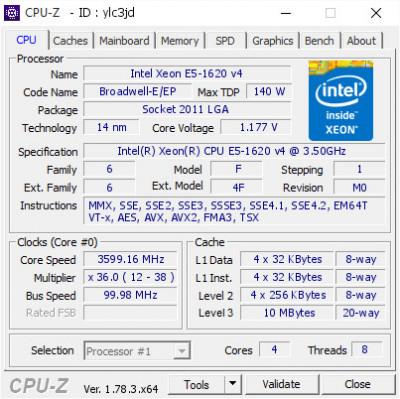 Procesor Workstation Intel Xeon E5-1620 v4 3.5-3.8 GHz Socket 2011-V3 Bulk DDR4 foto