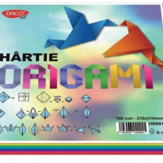 Hartie Origami top 100 coli 80gr/mp 10 culori