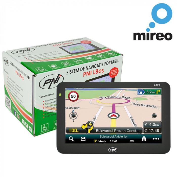 Aproape nou: Sistem de navigatie GPS PNI L805 ecran 5 inch, harta Europei Mireo Don