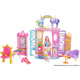 Cumpara ieftin Casuta Barbie pliabila, castelul printesei bomboanelor, Dreamtopia, 36 cm