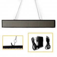 Panou de afișare cu text LED,reclama luminoasa led 70x20cm alb interior