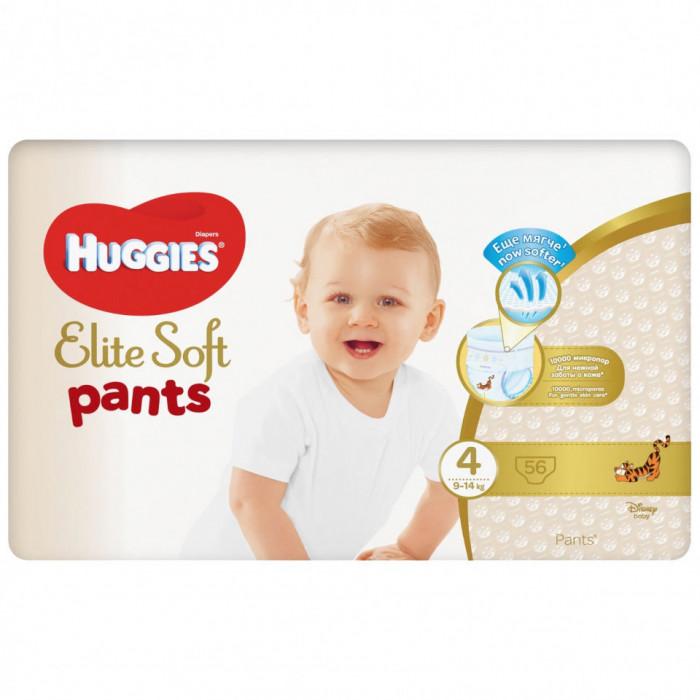 Scutece chilotel Huggies Elite Soft Pants Giga Pack Nr.4, 9-14 kg, 56 buc