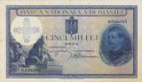 ROMANIA 5000 lei 1931 SUPRATIPAR 1940 SERIE LINIARA AXF