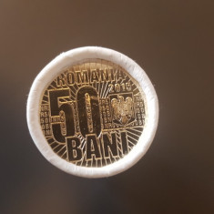 FISIC 50 bani 2015 UNC DENOMINAREA MONEDEI NATIONALE BNR monede NECIRCULATE