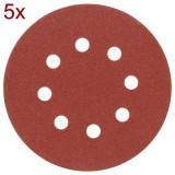 Set discuri panza abraziva cu gauri p150 125 mm 5 buc Vorel 08585