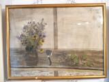 Tablou vechi-Natura statica-Sorin Ilfoveanu, Tempera, Impresionism
