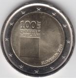 Moneda 2 euro comemorativa SLOVENIA 2019, UNC, Europa, Cupru-Nichel