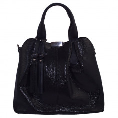 Geanta dama, din piele naturala, marca Desisan, 7137-01-18-26, negru