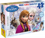 Puzzle de colorat maxi - Anna si Elsa (60 piese) PlayLearn Toys