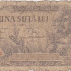 ROMANIA 100 LEI 25 IUNIE 1947 UZATA