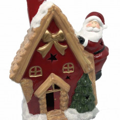 Decoratiune Craciun Santa On The House ceramica