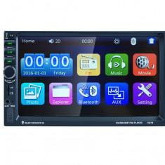 MP3 Player Auto Universal 2DIN cu Radio FM, Bluetooth, Display 7 Inch, USB, MicroSD, AUX, Microfon Incorporat