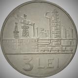 Moneda 3 LEI - RS ROMANIA, anul 1966   *cod 1986  --- NECIRCULATA!