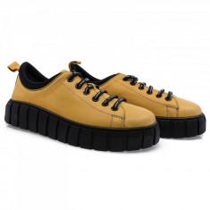 Pantofi dama din piele naturala Caspian CAS-D30-24-Hardal