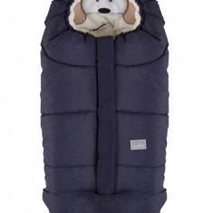 Nuvita Ovetto Cuccioli sac de iarna 80 cm Dog Melange Blue Beige 9205