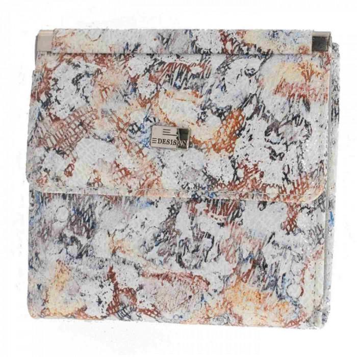 Portofel dama, din piele naturala, marca Desisan, 067-18-15-26, multicolor