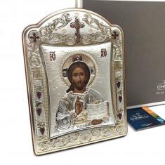 Icoana Iisus Hristos placata cu Aur si Argint by Chinelli made in Italy