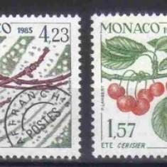 MONACO 1985, Flora, serie neuzata, MNH