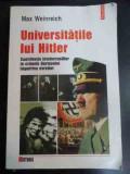 Universitatile Lui Hitler Contributiile Intelectualilor La Cr - Max Weinreich ,547139