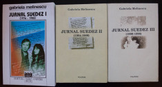 Gabriela Melinescu - Jurnal suedez I + II + III (1976-1996) (3 volume) foto