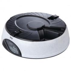 Distribuitor automat de hrana pentru animale de companie, 6 compartimente, inregistrare vocala, alb, Gonga