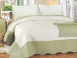 Cuvertura din Bumbac 100% Brodat pentru pat single 170x215cm Jinga