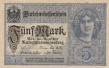 Germania 5 Mark 1917 P.56   UNC