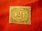 Timbru Olanda 1899 - Uzuale Cifra , val. 2 1/2 verde ,sarniera, Nestampilat