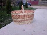 Coş răchită picnic cu 2 capace