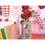 Vaza lemn sticla Heart 21 cm x 10 cm