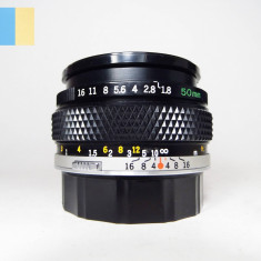 Obiectiv Olympus OM-System Zuiko Auto-S 50mm f/1.8 montura Olympus OM