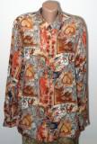 Camasa vintage imprimeu multicolor