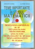 Grigore Gheba-Teme importante in studiul matematicii
