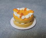 Tort festiv de portocale - miniatura casute papusi