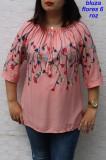 Cumpara ieftin Bluze Flores Model 6 Roz, 2XL, 3XL