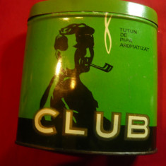 Cutie metalica pt Tutun de Pipa marca CLUB - Cluj - Romania