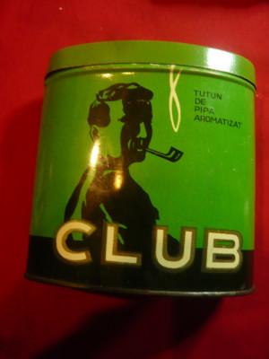 Cutie metalica pt Tutun de Pipa marca CLUB - Cluj - Romania foto