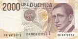 ITALIA 2000 LIRE 1990 VF