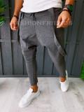 Pantaloni VAGABOND - de trening pentru barbati - slim fit - gri - A6399, Din imagine