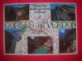 HOPCT 44137 HARTA GORGES DU VERDON -FRANTA-STAMPILOGRAFIE-CIRCULATA